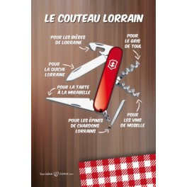Carte postale - Le Couteau Lorrain