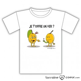 T-shirt - Mirabelle - Je t'offre un ver ?
